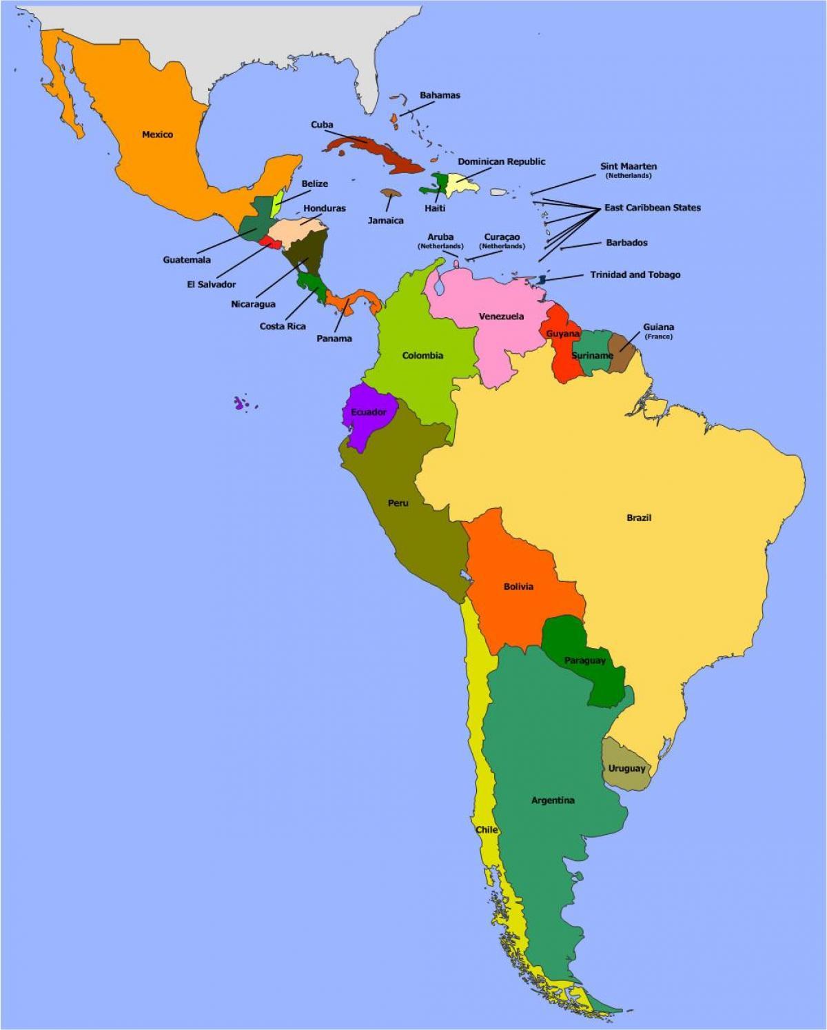 Belize Etela Amerikka Kartta Kartta Belize Etela Amerikkaan